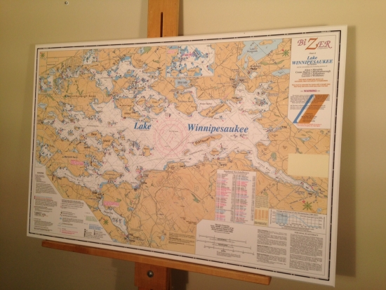Lake Winnipesaukee Map Artiplaq